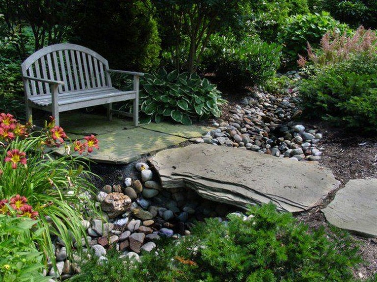 35 Finest Relaxing Garden Design Ideas With Stone Bridge