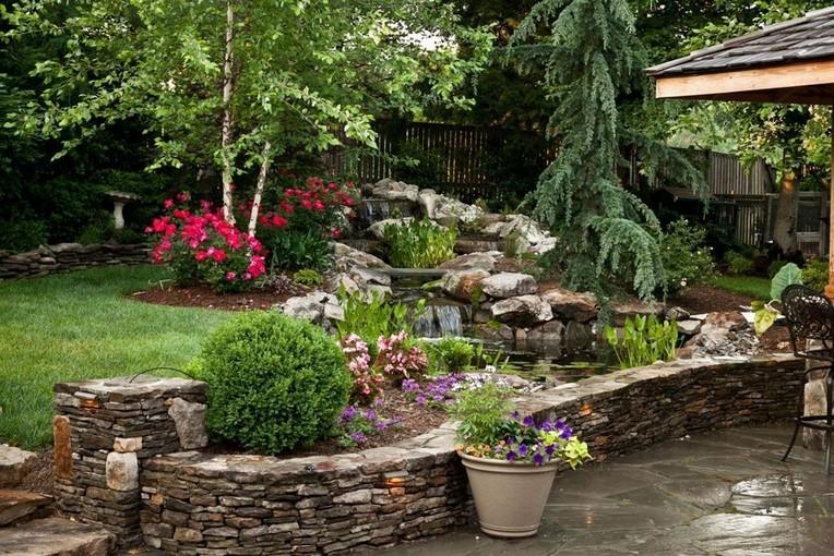 30 Pretty Sunken Ideas For Backyard Landscape